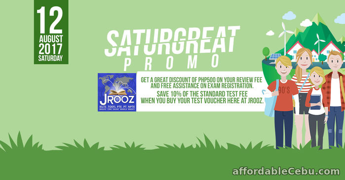 1st picture of JROOZ PTE Academic SATURGREAT PROMO – August 12, 2017 Offer in Cebu, Philippines