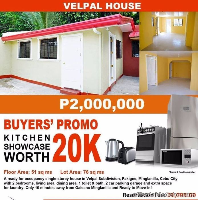 3rd picture of House and Lot in Velpal Talisay-Minglanilla Boundary For Sale in Cebu, Philippines