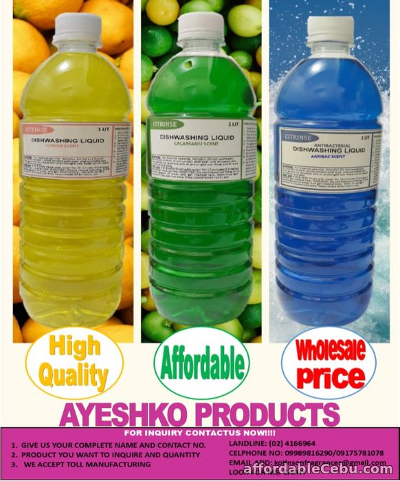 1st picture of WHOLE SALE DISHWASHING LIQUID AND OTHER HOUSEHOLD PRODUCTS For Sale in Cebu, Philippines