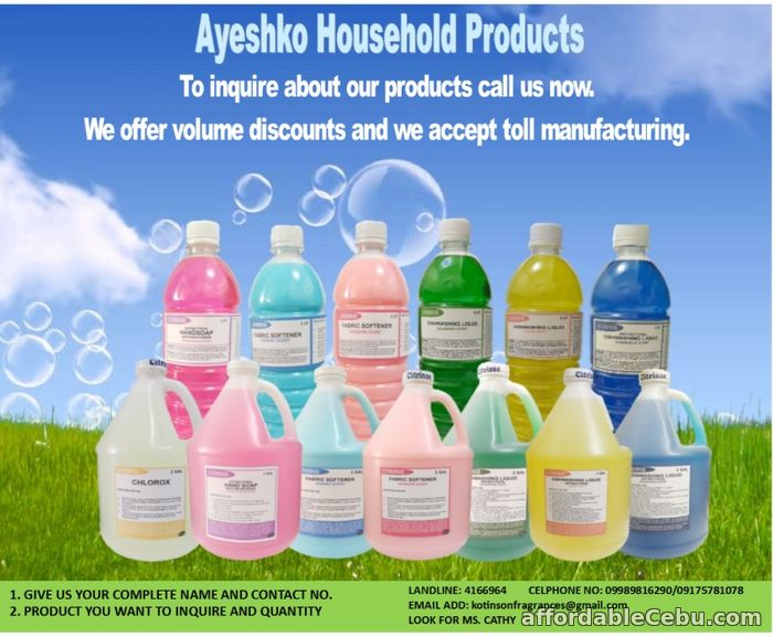 1st picture of Wholesale Dishwashing Liquid, FabCon, Detergent Powder and Household Products For Sale in Cebu, Philippines