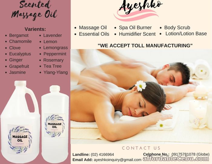 1st picture of MASSAGE OIL & OTHER SPA PRODUCTS (MANUFACTURER) For Sale in Cebu, Philippines