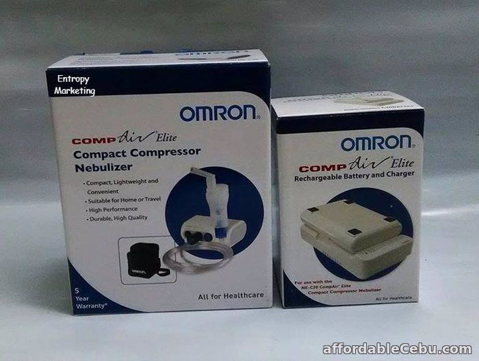 1st picture of OMRON MINI PORTABLE NEBULIZER WITH RECHARGEABLE BATTERY PACK For Sale in Cebu, Philippines