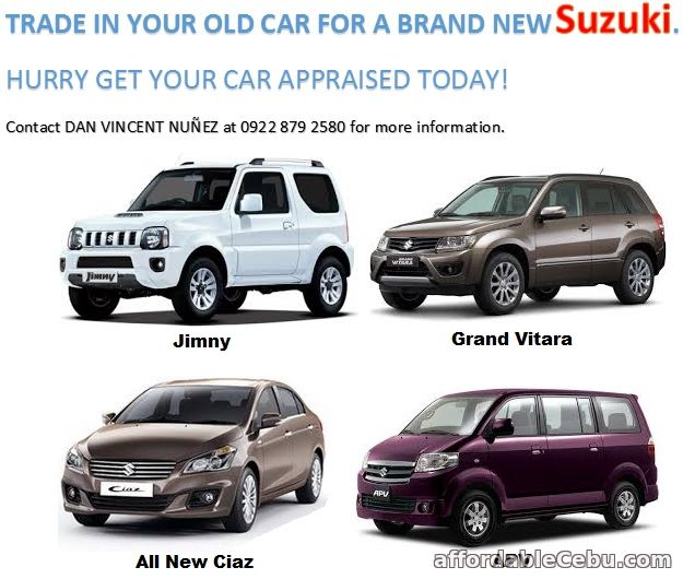 1st picture of TRADE IN YOUR OLD CAR FOR A BRAND NEW SUZUKI For Sale in Cebu, Philippines