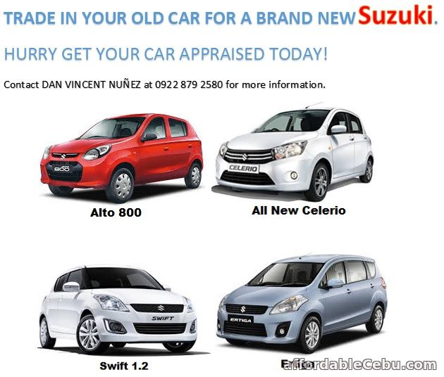 2nd picture of TRADE IN YOUR OLD CAR FOR A BRAND NEW SUZUKI For Sale in Cebu, Philippines