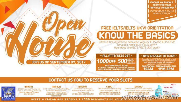 1st picture of JROOZ IELTS / IELTS UKVI OPEN HOUSE – September 9, 2017 Offer in Cebu, Philippines