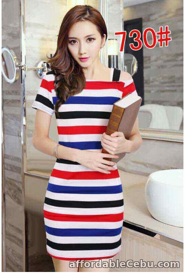 1st picture of STRIPE OFFSHOULDER DRESS For Sale in Cebu, Philippines