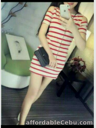 1st picture of STRIPE COLDSHOULDER DRESS For Sale in Cebu, Philippines