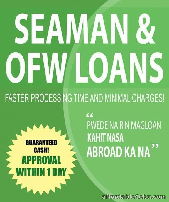 1st picture of SEAMAN'S LOAN 1 DAY PROCESS and RELEASE ( NO HOUSE C.I. ) AT AFFORDABLE INTEREST RATE Announcement in Cebu, Philippines