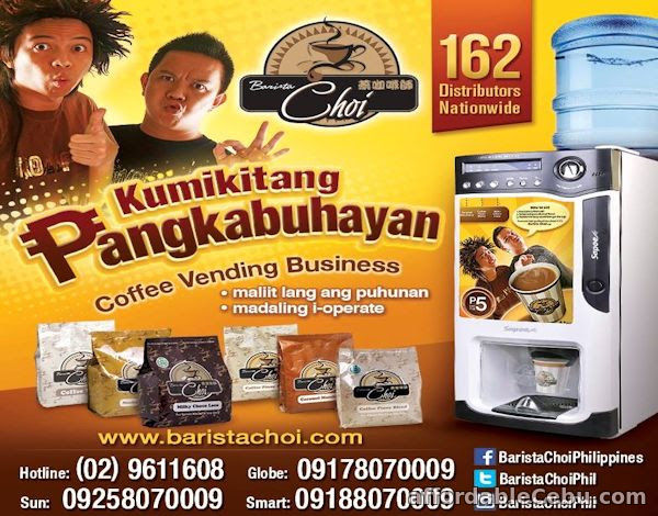 1st picture of Coffee Vending Machine Business Offer in Cebu, Philippines