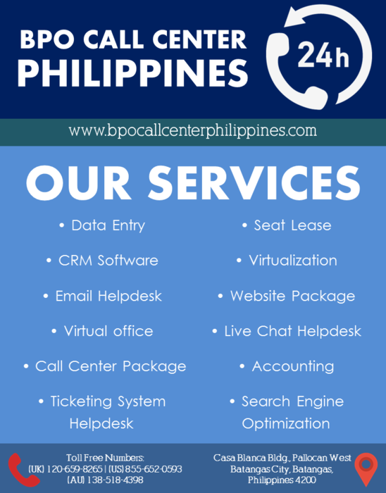 1st picture of BPO Call Center Philippines Offer in Cebu, Philippines