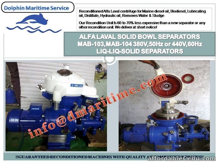 1st picture of Industrial Centrifuge Alfa Laval MAB-103, Biodiesel centrifuge, Lube oil purifier For Sale in Cebu, Philippines