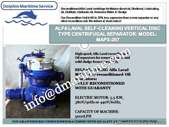 1st picture of Alfa laval centrifuge, oil purifier, oil separator, MAPX-207, MOPX-207, MAPX-309, MOPX-309, MAPX-205 For Sale in Cebu, Philippines