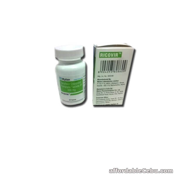 1st picture of Ricovir 300 mg : Tenofovir 300 mg Ricovir Tablets Price & Details For Sale in Cebu, Philippines