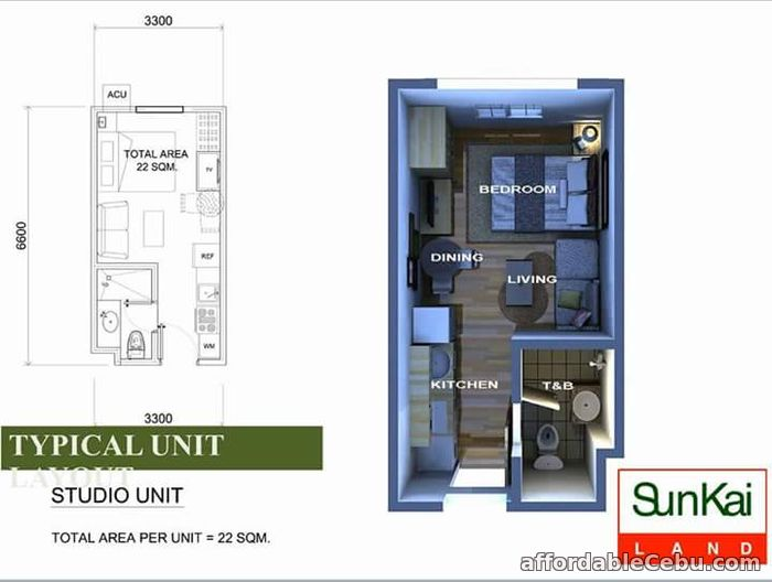 2nd picture of Almost RFO Studio Unit for sale at Sunvida Tower just in front of SM City Cebu For Sale in Cebu, Philippines