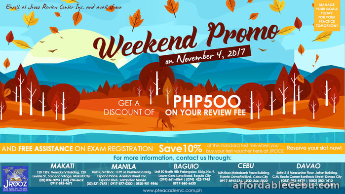 1st picture of PTE ACADEMIC WEEKEND PROMO - November 4, 2017 Offer in Cebu, Philippines