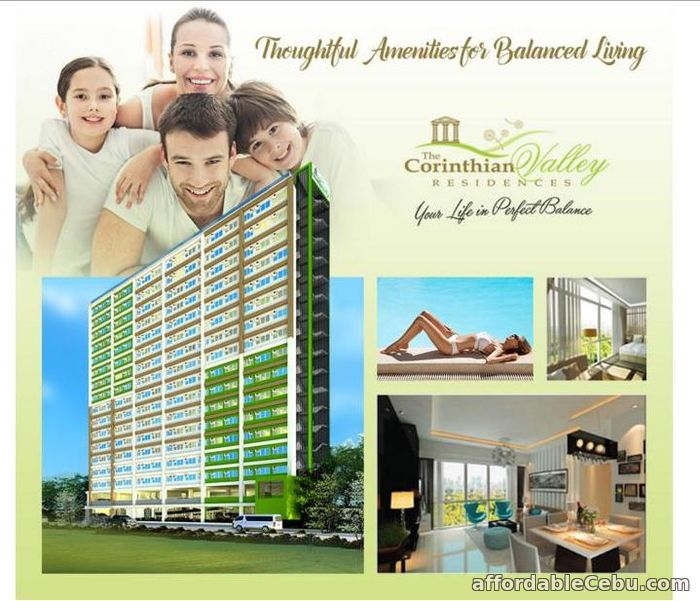 1st picture of 1-bedroom Condo as low as P5525/month Corinthian Valley Residences very accessible to school, universities, Hospitals and business center For Sale in Cebu, Philippines