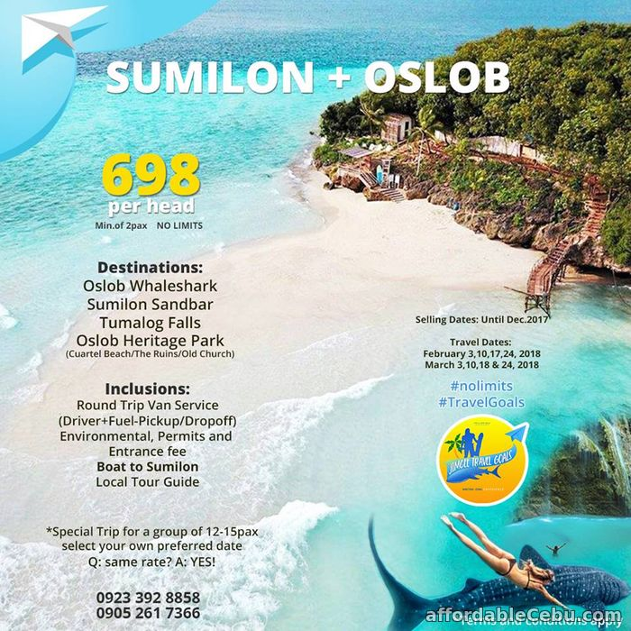 1st picture of Oslob Sumilon Tour Package For Sale in Cebu, Philippines