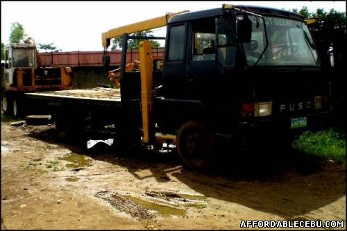 2nd picture of Truck for Sale in Cebu - Fuso self loading truck with boom For Sale in Cebu, Philippines
