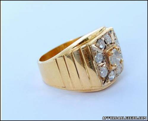 3rd picture of 14K Ring for Men with 9 Diamonds For Sale in Cebu, Philippines