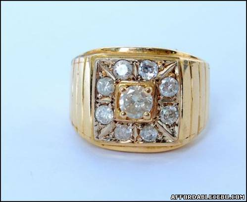 1st picture of 14K Ring for Men with 9 Diamonds For Sale in Cebu, Philippines