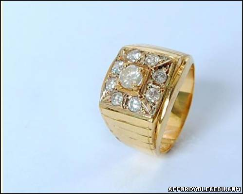 2nd picture of 14K Ring for Men with 9 Diamonds For Sale in Cebu, Philippines