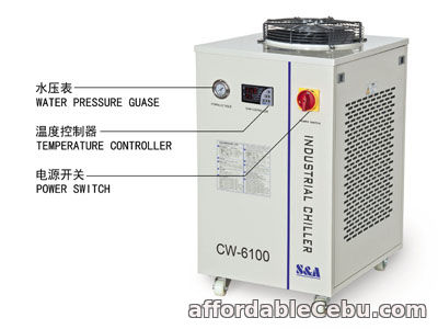 3rd picture of S&A industrial compressor refrigeration chiller CW-6100 factory For Sale in Cebu, Philippines