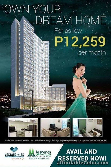 1st picture of Fully Furnished Unit at La Menda Residences in Busay, Cebu City For Sale in Cebu, Philippines