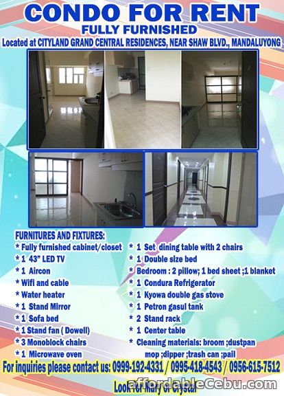 1st picture of Condo Unit for Rent For Rent in Cebu, Philippines