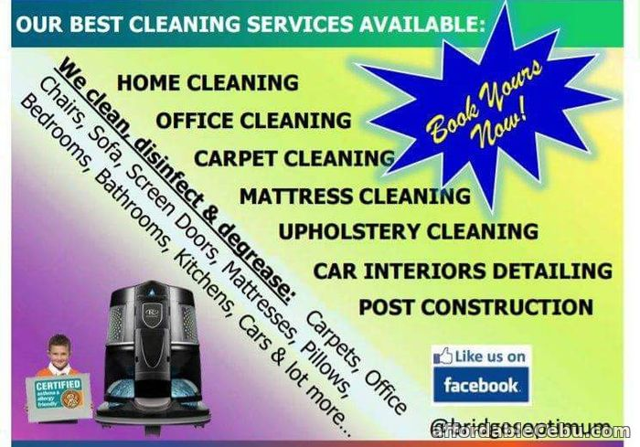1st picture of Cleaning Services: Carpet, Upholstery, Mattress, Home, Office, Post Construction Offer in Cebu, Philippines