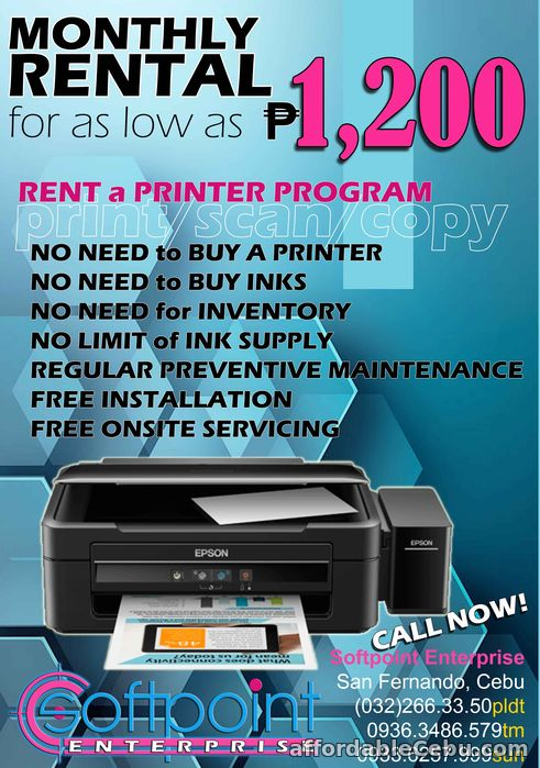 1st picture of Computer Printer for Rent For Rent in Cebu, Philippines