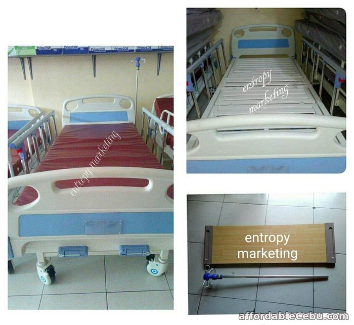 1st picture of Hospital Bed 2 cranks aluminum sliding side rails For Sale in Cebu, Philippines