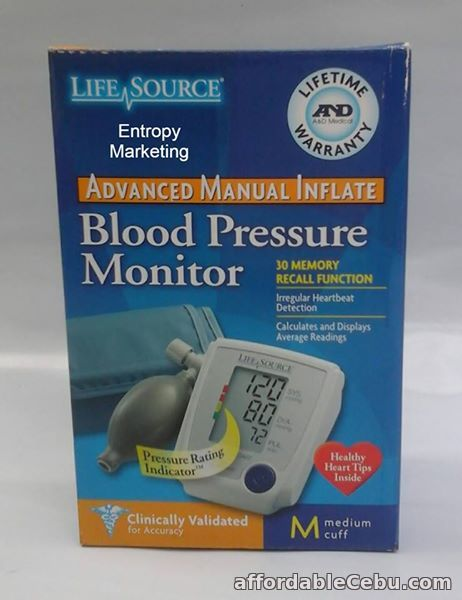 1st picture of LifeSource Digital BP Monitor with manual inflate For Sale in Cebu, Philippines