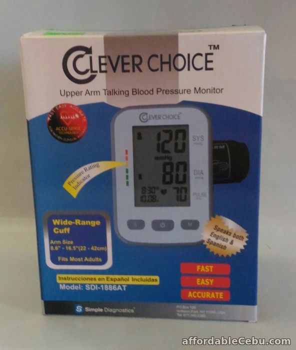 1st picture of Clever Choice Digital BP Blood Pressure Talking Monitor SDI 1886AT For Sale in Cebu, Philippines