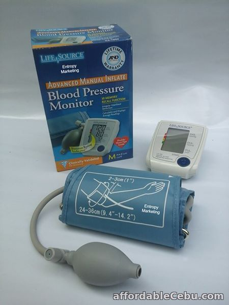 2nd picture of LifeSource Digital BP Monitor with manual inflate For Sale in Cebu, Philippines