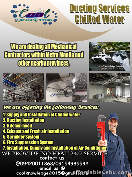 1st picture of Ducting and Chilled Water Services For Sale in Cebu, Philippines