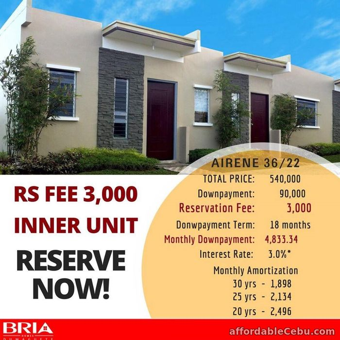 1st picture of House for sale at Bria Homes in Dumaguete Negros Oriental For Sale in Cebu, Philippines
