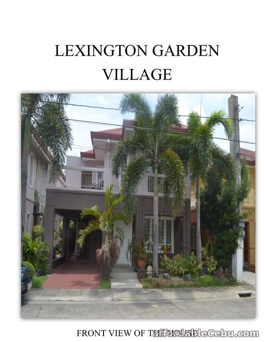 1st picture of FOR SALE: Well Maintained House & Lot in Lexington Gardens Pasig City For Sale in Cebu, Philippines
