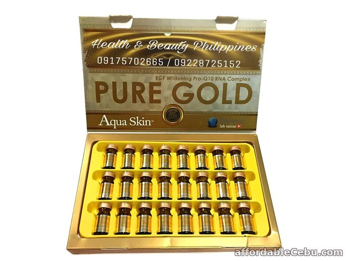 1st picture of aqua skin pure gold in the Philippines For Sale in Cebu, Philippines