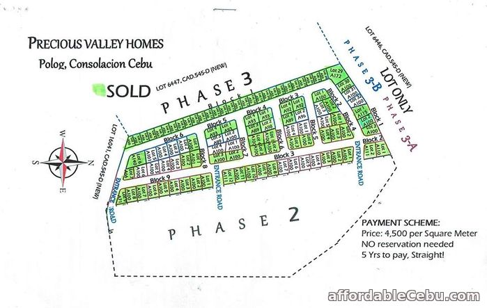 4th picture of Precious Valley Homes(LOT ONLY) Polog, Consolacion City, Cebu For Sale in Cebu, Philippines