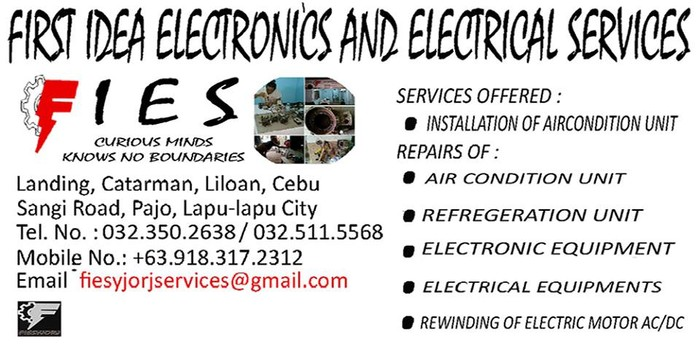 1st picture of FIRST IDEA ELECTRONICS AND ELECTRICAL SERVICES (FIES) Announcement in Cebu, Philippines