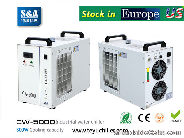 1st picture of S&A CW-5000 water chiller for cooling dental CNC engraving machine For Sale in Cebu, Philippines