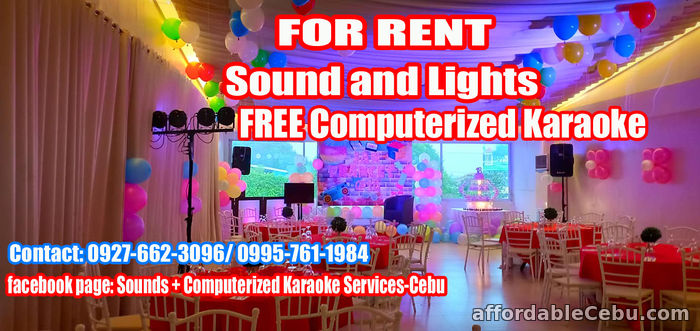 1st picture of Karaoke For Rent Cebu City For Rent in Cebu, Philippines