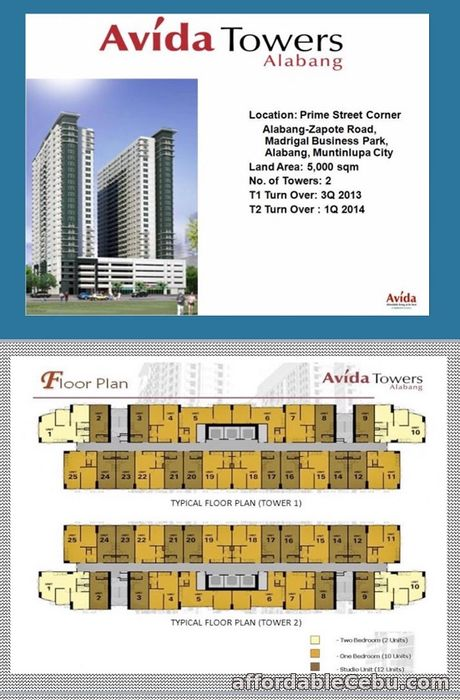 1st picture of For Sale Avida Towers Alabang Tower 2 For Sale in Cebu, Philippines