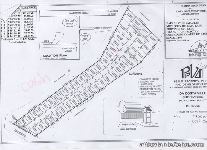 5th picture of Da Costa Ville Subdivision(LOT ONLY) Soong, Lapulapu City, Cebu For Sale in Cebu, Philippines