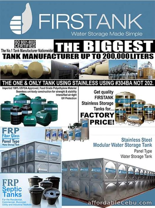 2nd picture of Water Tank Manufacturer For Sale in Cebu, Philippines