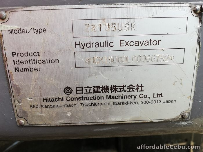 3rd picture of Backhoe Excavator Hitachi ZX135USK with Breaker Line Sheet Pile Line For Sale in Cebu, Philippines