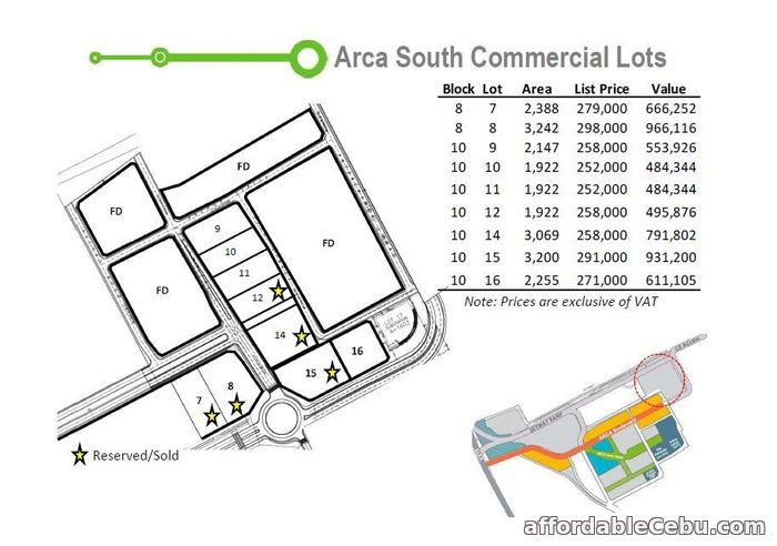 3rd picture of Arca South Commercial Lot For Sale in Cebu, Philippines