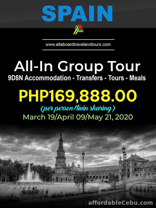 1st picture of Spain All-In Tour For Sale in Cebu, Philippines