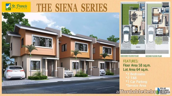 1st picture of House for sale Siena Series at St. Francis Hills Subdivision For Sale in Cebu, Philippines