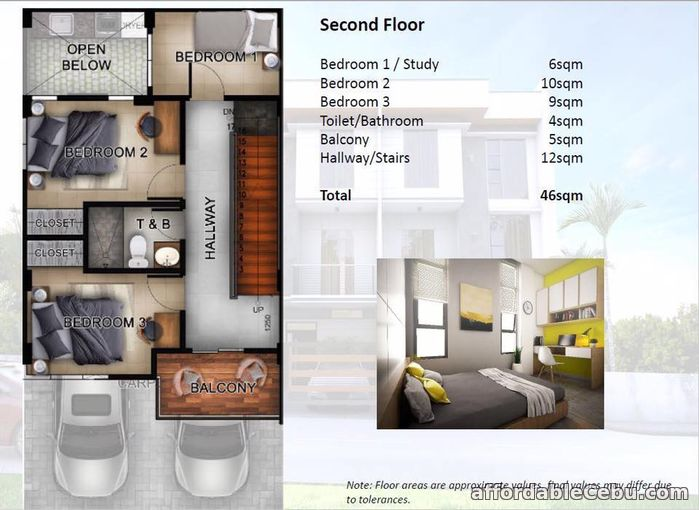 3rd picture of Rush 3 Storey House for sale at Capitol Site Cebu City For Sale in Cebu, Philippines